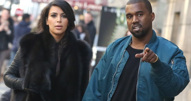 Kim Kardashian & Kanye Take A Romantic Stroll In Paris
