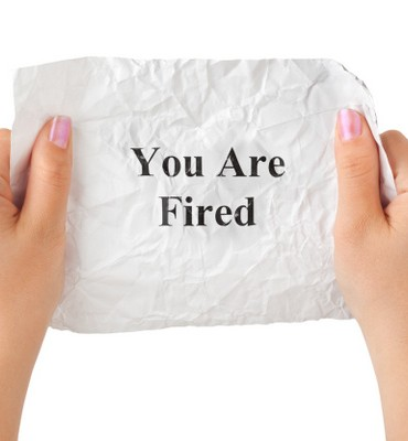 Hands and paper You Are Fired