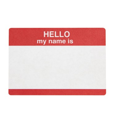 Hello My Name is Sticker - Photo Object