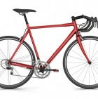 red sport bicycle isolated on white background
