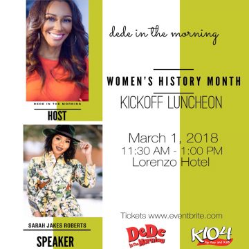 DeDe's Women's History Month Kickoff Luncheon