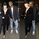 Kanye-and-Kim-Kardashian-leaving-Hakkasan