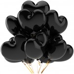 Black Heart Balloons