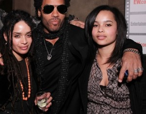 Zoe and Lenny Kravitz