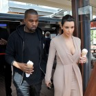 Kim Kardashian And Kanye West Stop For Ice Cream