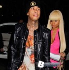 Tyga and Blac Chyna arrive to watch the Clippers [USA ONLY]