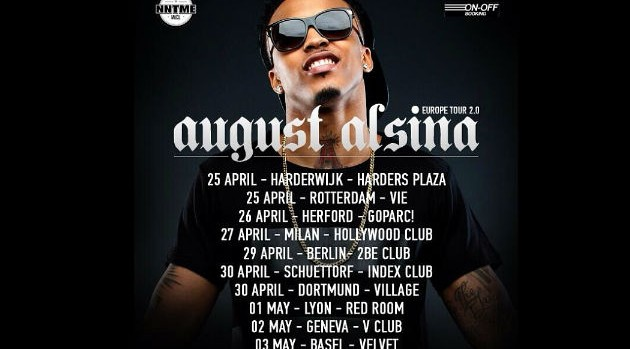 AUGUST ALSINA Tour Dates 2016 - 2017 - concert images & videos ...