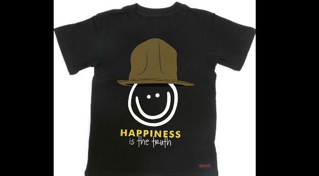 Pharrell Teams With Peace Love World Clothing Company For Happy T Shirt Collection