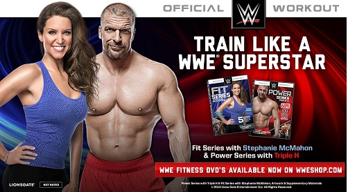 WWE Workout DVDs - Triple H & Stephanie McMahon